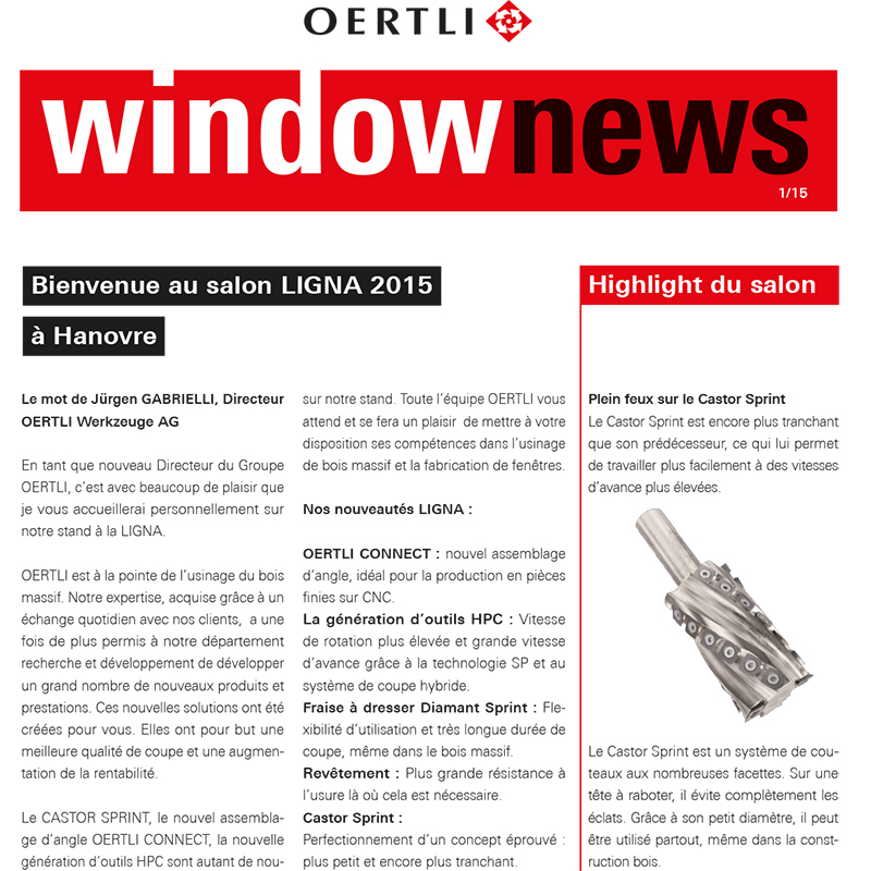 WindowNews 2019 Ligna edition